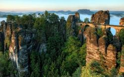 Bastei Bridge Germany wallpaper