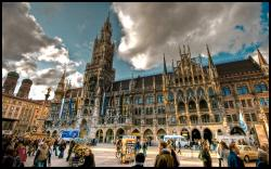 Munich (German: München, pronounced [ˈmʏnçən] ( listen); Austro-Bavarian: Minga) is the capital city of Bavaria (Bayern), Germany.