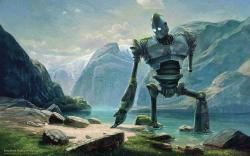 ... Abandoned Iron Giant At Lake In Swiss Mountains by fantasio