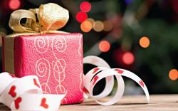 Gift Box Bow Bokeh Christmas