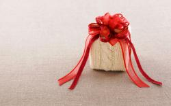 Gift Box Bow Red Ribbon