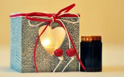 Gift Candle Fire Light Heart Film