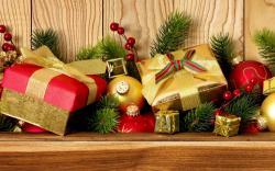 Gifts Boxes Christmas Balls New Year Holiday