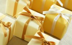 Holidays Gifts Boxes Ribbon Bows Macro Wallpaper 1920×1200