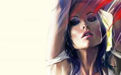 Beautiful Girl Olivia Wilde Artwork HD Wallpaper
