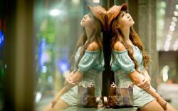 Girl Asian City Mood