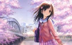6597 Anime Girl Wallpaper image background free