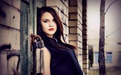 Building Fashion Girl Model Photo