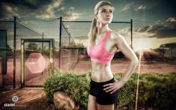 Girl Blonde Athlete Fitness Sport