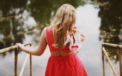 Girl Blonde Back Dress Shoes