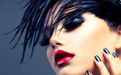 Girl Brunette Makeup Lipstick Fashion