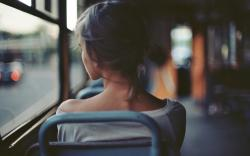 Girl Bus Mood
