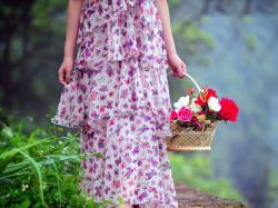 Description: The Wallpaper above is Girl Flower Basket Wallpaper in Resolution 1024x768. Choose your Resolution and Download Girl Flower Basket Wallpaper