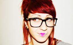 Girl Glasses Pink Heart Lips