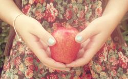 Girl Hands Apple