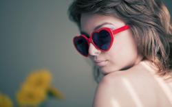 Girl Heart Sunglasses Love