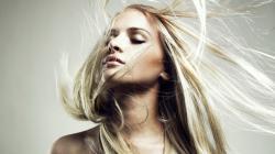 Portrait Lovely Blonde Girl