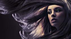 Awesome Hair Girl Portrait Wallpaper
