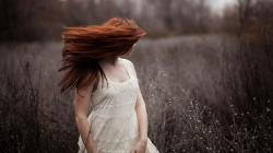 Girl Redhead Dress Nature Photo