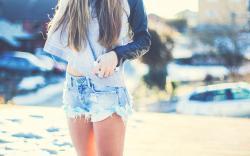 Girl Shorts Photo