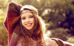 Girl Smile Bokeh