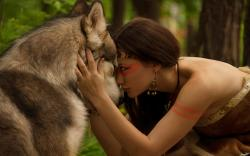 Girl wolf friendship