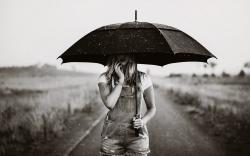 Umbrella Girl Wallpaper ...