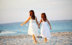 Girls Beach Sand Summer Children