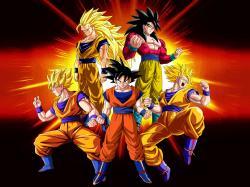 Wallpaper Goku Evolution by Dony910