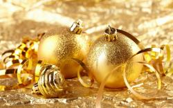 Christmas Golden Christmas ornaments
