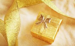 Gold Gift Box Wallpaper