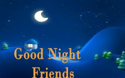 good night friends wishes free wallpaper