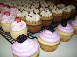 For Burke's pre-school graduation I volunteered to make cupcakes. I wanted enough cupcakes to go around and enough flavors to make everyone happy.