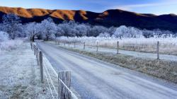Beautiful Winter Road Wallpaper