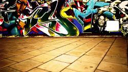 Preview wallpaper wall, graffiti, colorful, tiles 1920x1080