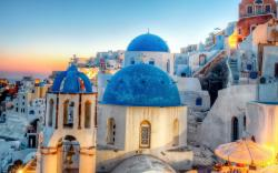 Greece Oia Santorini City