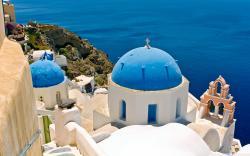 Oia, Santorini, Greece HD Wide Wallpaper for Widescreen
