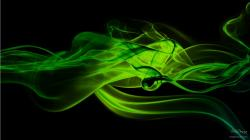 Green On Black Free Smoke Abstract Wallpaper Hd Download 1366x768px
