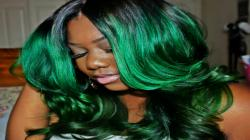 Custom GREEN HAIR! Hair Coloring- Adore Forest Green & Manic Panic Green Envy- HER HAIR COMPANY