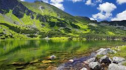 Lake Between Green Mountains Free Wallpaper Desktop 14927 High Resolution