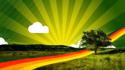 Green Sunset Wallpapers