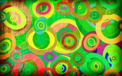 Grunge green circles pattern