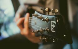 Guitar Music Macro Bokeh