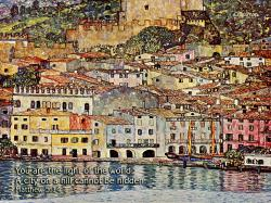 "A City On A Hill (Gustav Klimt ""City Malcesine am Gardasee"") 