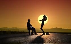Guy play girl dance