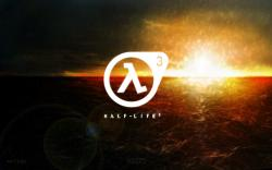 Half-Life 3 Logo over water by brett1990
