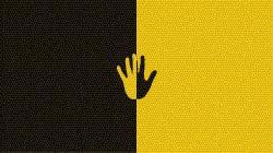 Hand Black and Yellow Art