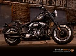 Building on the Fat Boy® legacy, the Fat Boy® Lo brought a darker, slammed appearance to the world of boulevard cruisers, drawing the attention