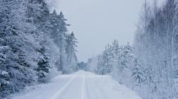 Harsh Winter Road Wallpaper