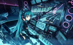 Tags: anime and fantasy, Hatsune Miku, Hot girl, Metro, railway station, terminal, Train